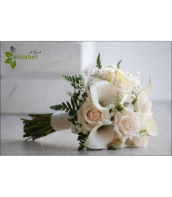 Ramo de novia de rosas y calas - Ramos de calas para novias ...