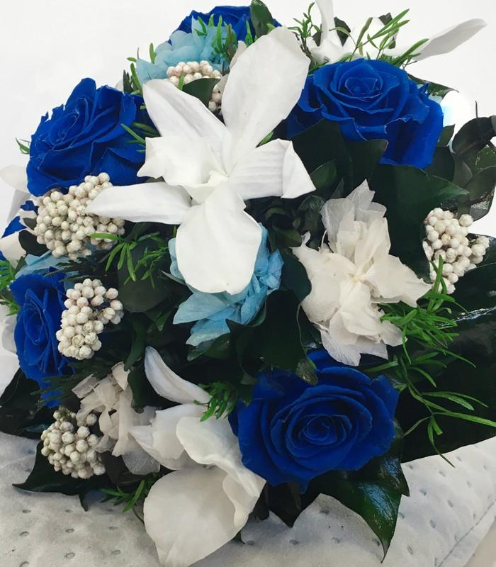 Ramo tonos azules florister a en valladolid elisabet - Tonos azules ...