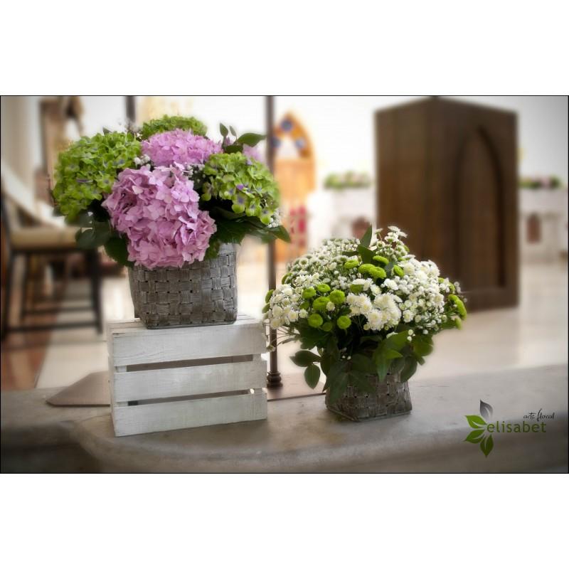Decoraci n de bodas - Decoracion con hortensias ...