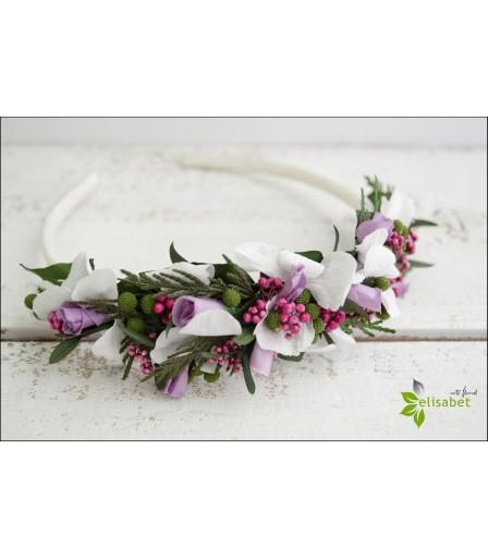 Diadema de flores comuniones o Damitas de Honor