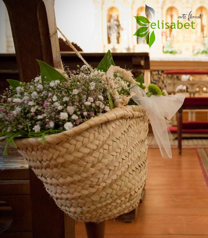 Decoraci n de bodas con capazos for Adornos para bodas con plantas