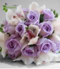 Rosas malva y orquídea.