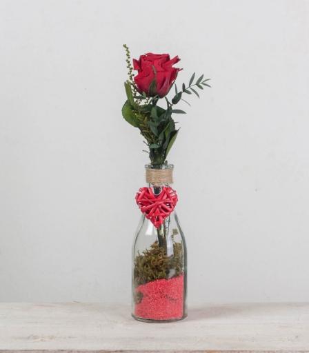 Rosa Eterna en Botella